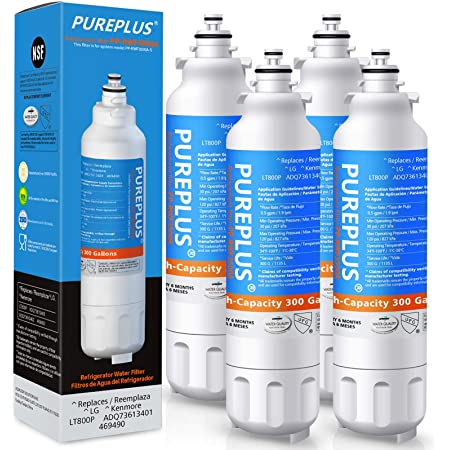 Refresh Replacement Water Filter 3 Pack Fits LG ADQ73613401 Refrigerators