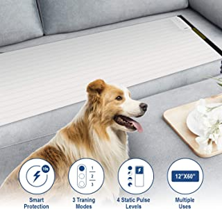 Balimo Pet Training Mat for Dogs & Cats   3 Training Mode, 4 Electrostatic Pulse Levels, Safety, Low Voltage Battery for Pet Training   Repellent Mat, Keep Pets Away From Unwanted Places