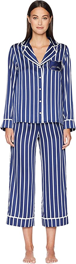 Stripe Cropped Pajama Set
