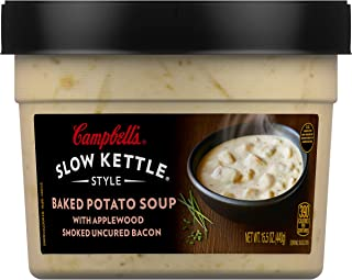 Campbell'sSlow Kettle Style Baked Potato with Bacon Soup, 15.5 oz. Tub