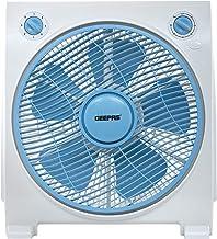 Geepas 12'' Box Fan – Personal Desk Fan with 43W Powerful Copper Motor – Table Fan for Office, & Home (3 Speed) – Fan Guar...