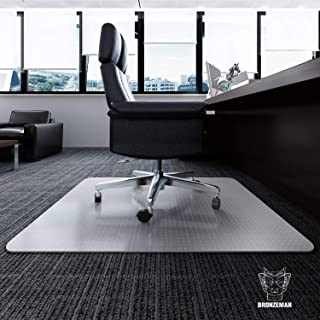 Desk Chair Mat for Carpet - Heavy Duty | Unbreakable Vinyl Floor Protector for Low-Pile Carpet,Thick 48