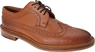 Mens All Leather American Brogue Gibson Shoes (9 US) (Tan)
