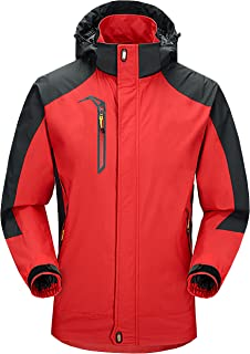 ZITY Men's Ski Jacket Waterproof 3 in 1 Windproof Hooded Snow Coat Winter Warm
