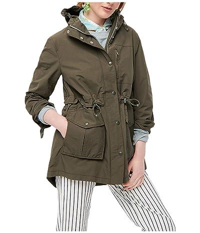 J.Crew Perfect Rain Jacket (Dark Moss) Women