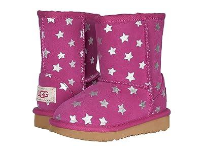 UGG Kids Classic Short II Stars (Toddler/Little Kid) (Fuchsia) Girls Shoes