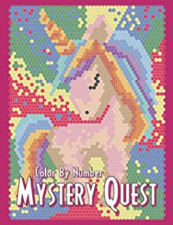 MYSTERY QUEST Color By Number: Activity Puzzle Coloring Book for Adults Relaxation and Stress Relief (Color By Number Quest)