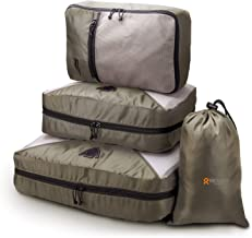 REYLEO Set di 4 Cubi da Imballaggio Cubi Organizzatori Cubi da Viaggio, Classificazione Logo, Cofanetto da Imballaggio Borsa in Borsa per Abiti / Cosmetici / Scarpe - CCPO1