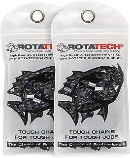 x2 (Dos) Auténtica Rotatech de repuesto cadena para Black and Decker 40cm/16