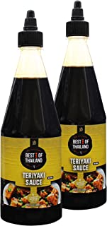 Premium Quality Teriyaki Sauce - (2 Pack - 23.6-oz Bottles) – Real Asian Brewed – No MSG – Kosher Certified – Ideal for Marinating Fish, Meat & Roasted ...