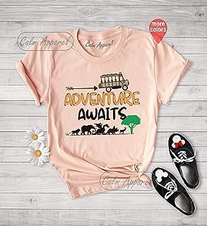 Adventure Awaits T-Shirt, Travel Into the Wild, Family Matching Outfits, Animal Kingdom Safari Tees