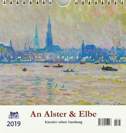 An Alster und Elbe 2019 Postkartenkalender: Künstler sehen Hamburg