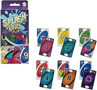 Mattel Games UNO Flip Splash, Jeu de société et de Cartes Doubles-Faces Waterproof, dès 7 Ans, GXD74