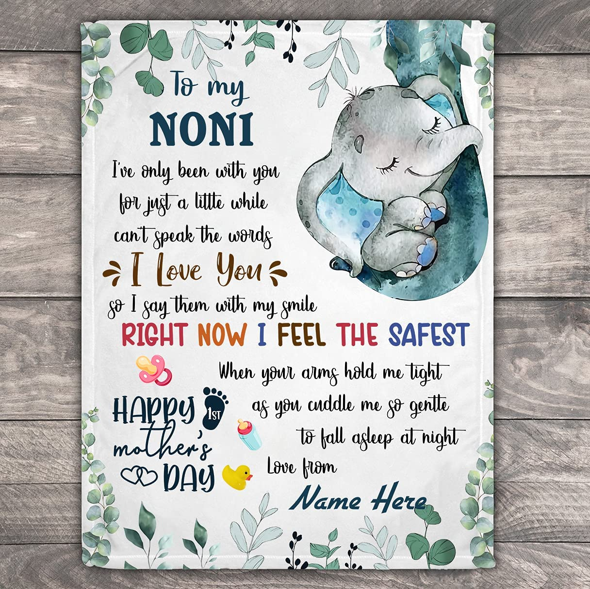 Personalized Blanket-to Mail order My NONI Tim Fleece Blanket Price reduction First
