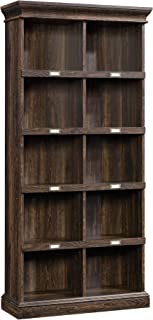 "Sauder 422716 Barrister Lane Tall Bookcase, L: 35.51"" x W: 13.47"" x H: 75.04"", Iron Oak finish"