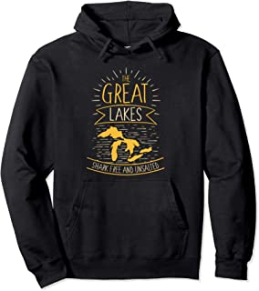 The Great Lakes Shark Free Unsalted Michigan Gift Pullover Hoodie