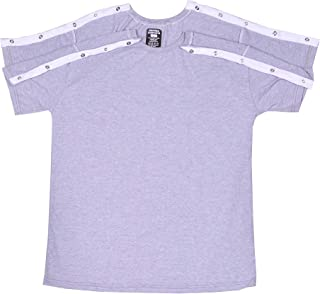 Uni-Sex Shoulder Surgery Recovery and Rehab Shirt with Discreet Shoulder Snaps