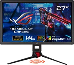 "ASUS ROG Strix XG27UQ 27"" HDR DSC Gaming Monitor, 4K (3840 x 2160), 144Hz, IPS, 1ms, Adaptive Sync, DisplayHDR 400, DCI-P3..."