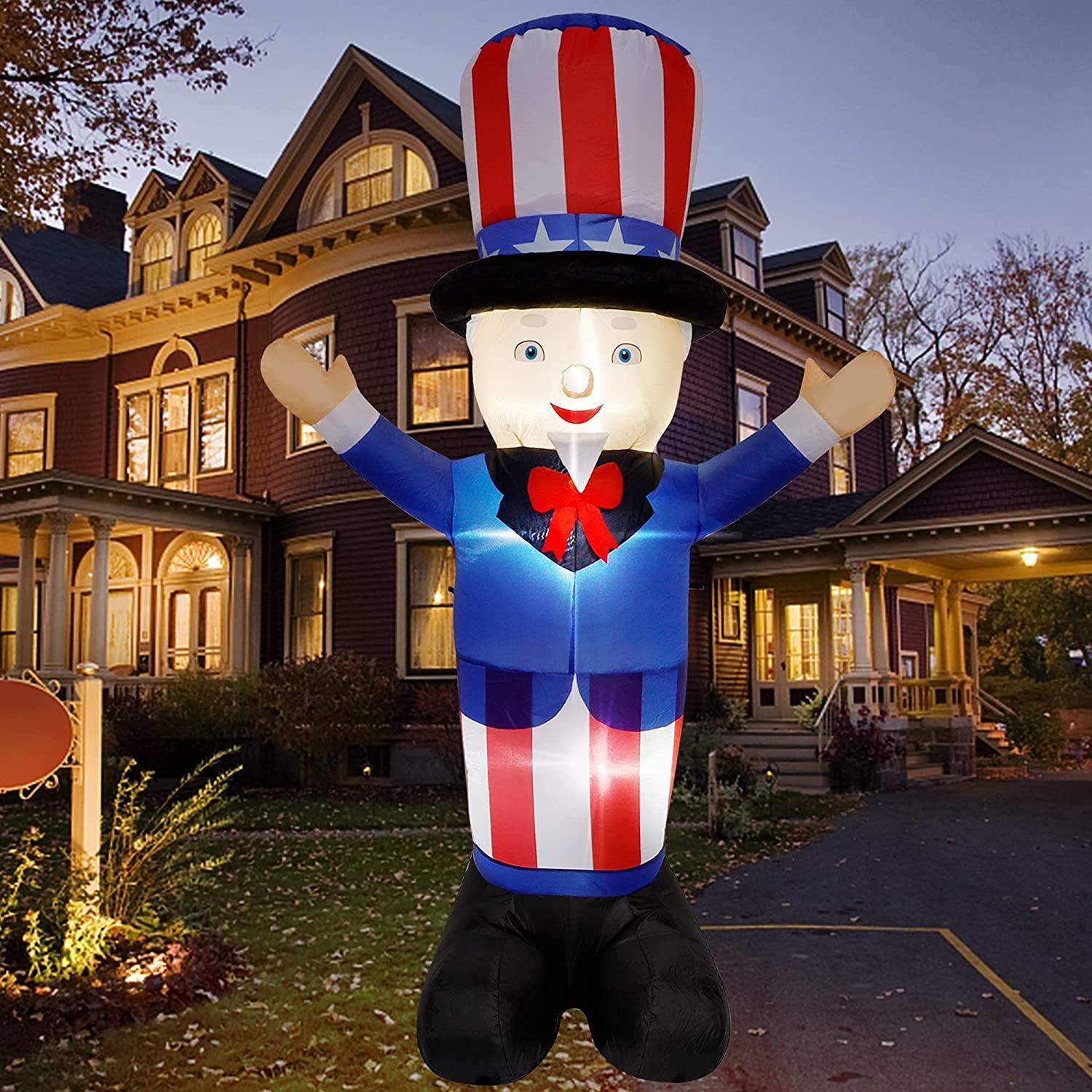 winemana Financial sales sale 6 FT Giant Patriotic Sam Independence Columbus Mall Inflatable Uncle