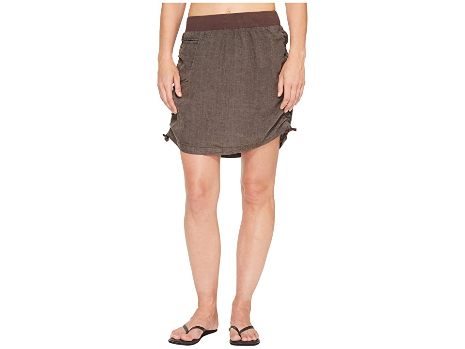 Toad&Co Lina Adjustable Skirt (Falcon Brown) Women