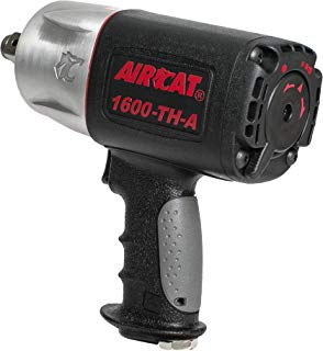 "AirCat 1600-TH-A 3/4"" Drive Composite Impact Wrench, Medium, Black & Silver"