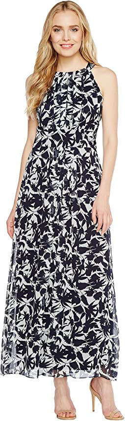 Christin Michaels - Brooke Printed Midi Dress