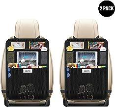 AOAFUN 2 Pack Organizadores para Asientos de coches , Protección para Asientos Trasero de Coche Back?asiento trasero Cubiertas para coches con sostenedor de tablet-bolsillo de pantalla táctil.