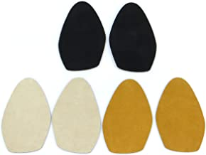 Stick-on suede soles for high-heeled shoes, with industrial-strength adhesive backing. Resole old dance shoes or convert y...