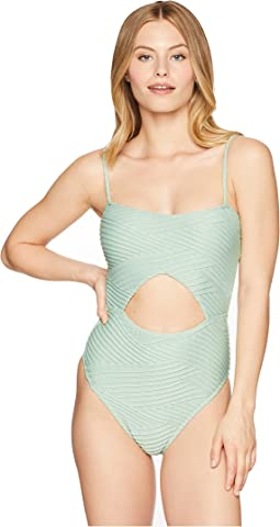 Sand Dunes Cut Out One-Piece Swimsuit