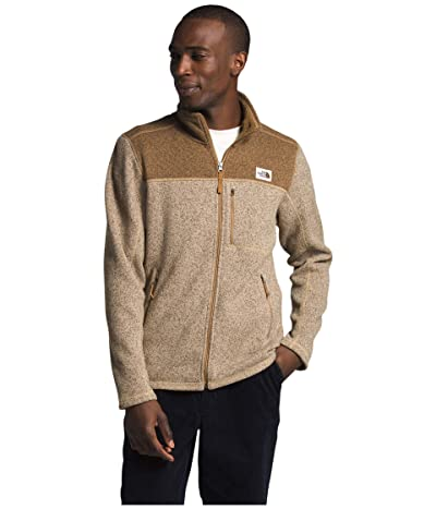 The North Face Gordon Lyons Full Zip (Hawthorne Khaki Dark Heather/Utility Brown Dark Heather) Men