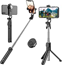 Selfie Stick, Extendable Selfie Stick Tripod with Detachable Wireless Remote and Tripod..