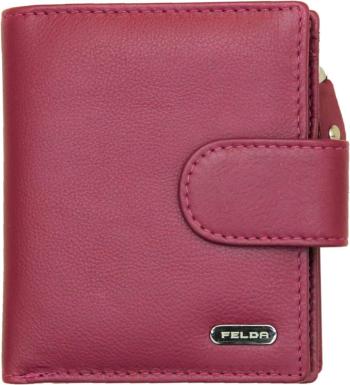 Max 64% OFF Felda RFID Small Womens Ranking TOP16 Purse - Genuine Leather Ladies Wallet