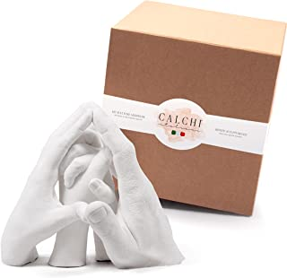 Kit Moulage Mains - Family - Sculptures Artistiques Format Famille. Idée Cadeau. Emballage Cadeau Complet d'Accessoires, A...