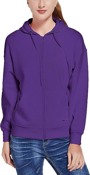 KOWSPORT Women's Zip Up Hoodie Soft Brushed Fleece Casual Hooded Sweatshirts for Women Size S-2XL