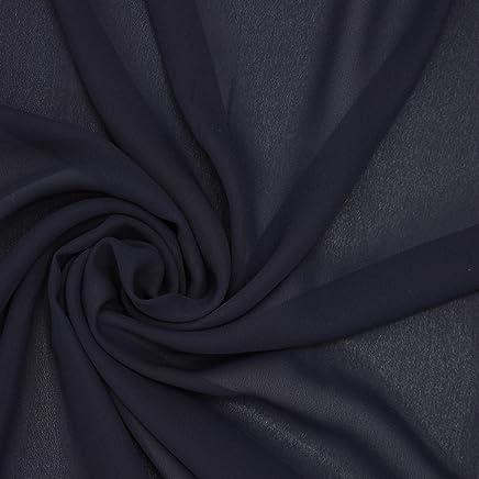 Dalston Mill Fabrics 5 m, 100//% poli/éster 50D 5 Tela de Gasa Lila