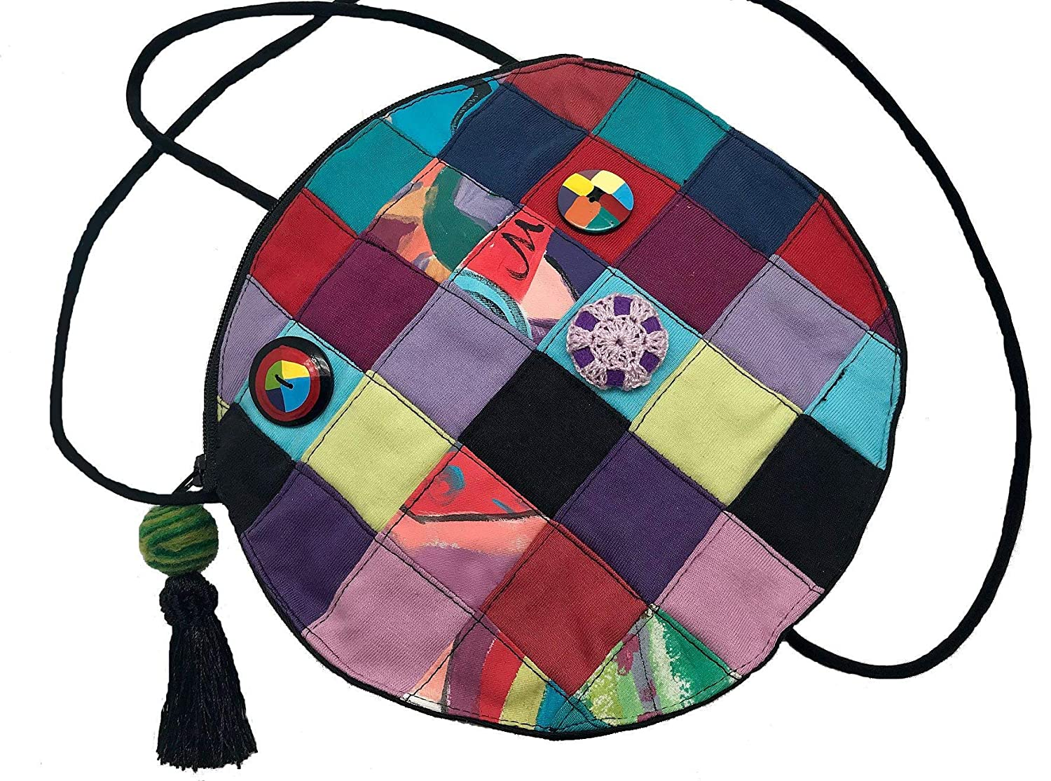 Women's Handmade Recycled Patchwork Cross - LRW DESIGNS Opening large release sale Max 57% OFF Body Bag