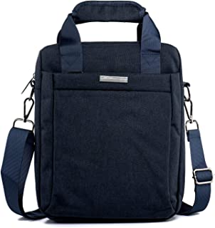Oivias Shoulder Bags-Man Bags with Handle and Strap Waterproof Nylon Cross Body Messenger Bag Travel Business Tablet Shoulder Bag with Shockproof Foam Black(27 * 7 * 30cm) (Color : Blue)