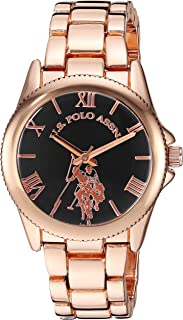 U.S. Polo Assn. Women's Gold Tone Metal Analog-Quartz...