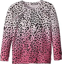 Super Soft Love Knit Pink Ombre Leopard Print Pullover (Little Kids/Big Kids)