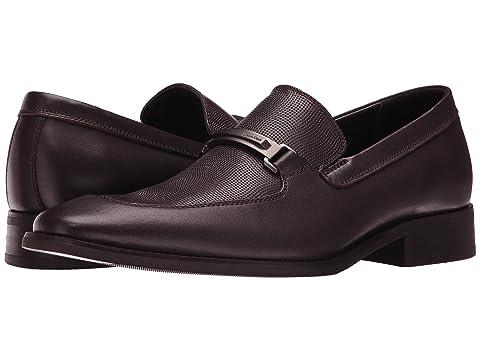 Mens Shoes Calvin Klein Rufus Dark Brown Leather/Emboss