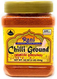 Rani Chilli Powder (Mirchi) Ground Indian Spice 16oz (454g) ~ All Natural, No Color added, Gluten Free Ingredients | Vegan | NON-GMO | No Salt or fillers