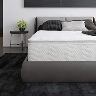 "Signature Sleep 6147459 Contour Hybrid 12"" Independently Encased Coil Memory Foam Mattress, Queen, White"