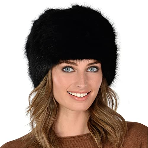 Womens Stylish Faux Fur Russian Cossack Hat Winter Fashion Warm Super Soft  Fit 9d671a72e94