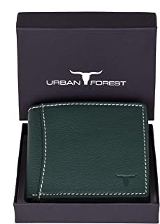Urban Forest Sheldon RFID Blocking Green Leather Wallet for Men