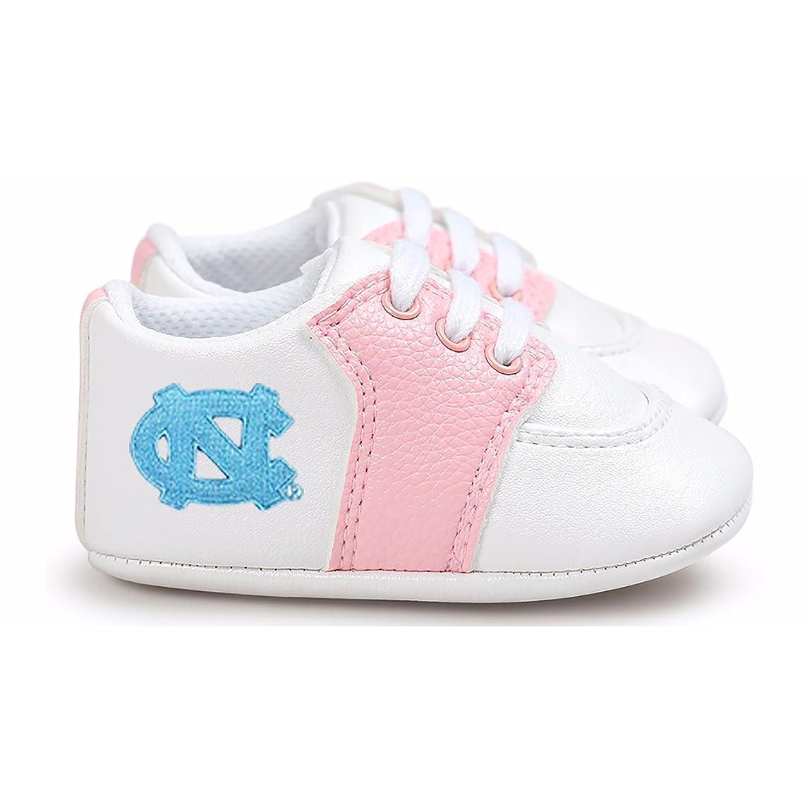 Future Tailgater North Carolina UNC Tar Heels Pre-Walker Baby Shoes - Pink Trim