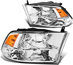 DNA Motoring HL-OH-DR09QUA-CH-AM Headlight Assembly (Driver & Passenger Side)