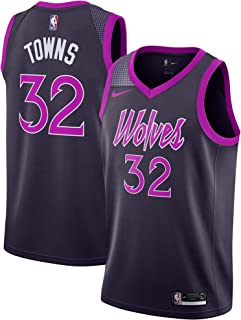 Nike Youth Karl-Anthony Towns Minnesota Timberwolves City Edition Jersey - Black and Purple