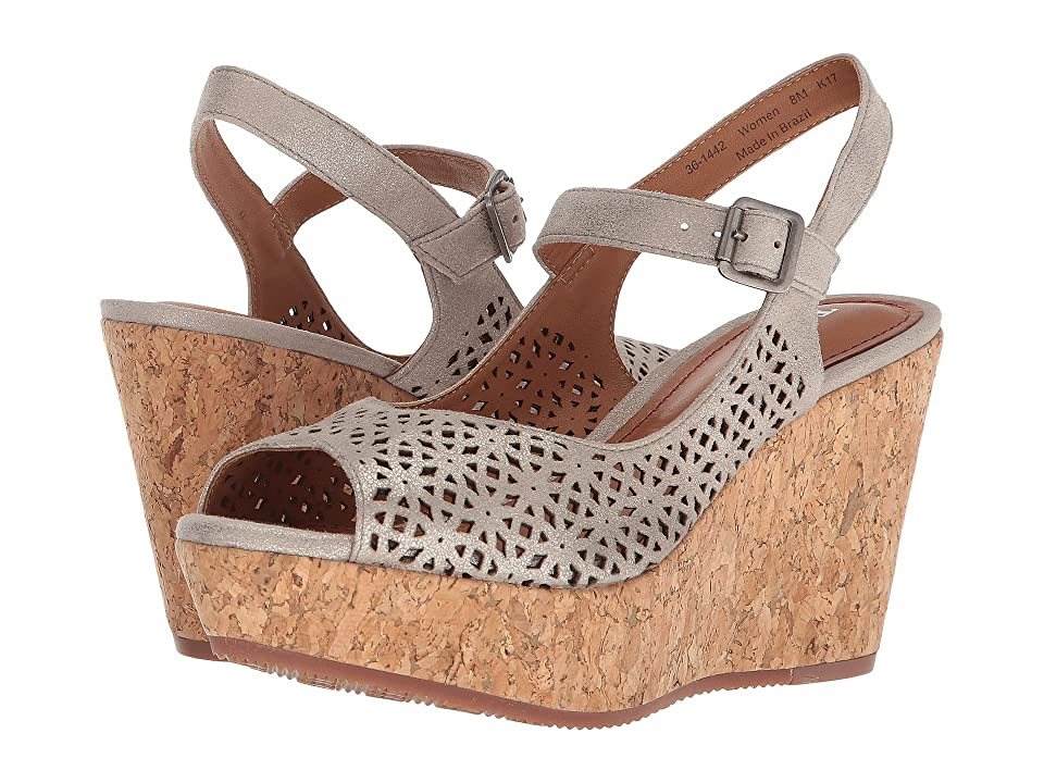 Trask Patti (Bone Metallic Suede) Women