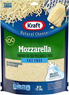 Kraft Shredded Fat Free Mozzarella Cheese (7 oz Bag)