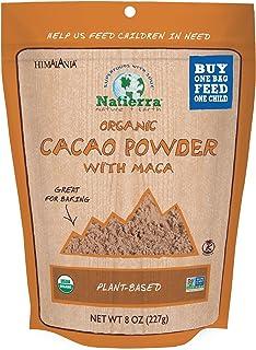 NATIERRA HimalaniaOrganic Cacao Powder with Maca Pouch   Non-GMO & Vegan   8 Ounce